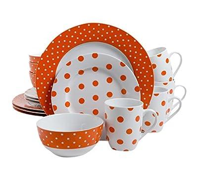 Isaac Mizrahi Dot Luxe 16 Piece Dinnerware Set