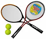 A to Z 06175 Twin Metal Tennis Set With Case