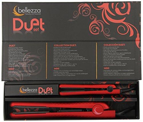 Bellezza Duet Flat Irons, Metallic Red