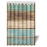 Cloud Dream Antique Old Planks American Style Western Rustic Wooden Shower Curtain,Waterproof and Polyester Fabric Bath Curtain Design,36x72-Inch Small Stall Size
