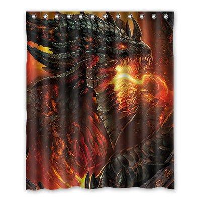 Dalliy Brauch drachen Wasserdicht Polyester Shower Curtain Duschvorhang 152cm x 183cm