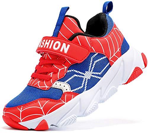 ashion Kinder Turnschuhe Jungen Sneaker Babys Hausschuhe Mädchen Sportschuhe Kinderschuhe Laufschuhe Unisex-Kinder (J Rot,25 EU)