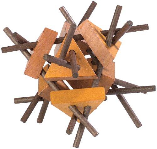 Playtastic Geschicklichkeitsspiel: Geduldspiel aus Holz - Der verflixte Eiskristall (Holz-Spielzeug)