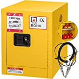 Mophorn Flammable Cabinet 4 Gallon 17' x 22' x 17' Galvanized Steel Safety Cabinet Adjustable Shelf Flammable...