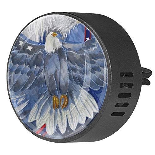 2 Stück Aromatherapie Diffusor Auto ätherisches Öl Diffusor Vent Clip patriotische Adler