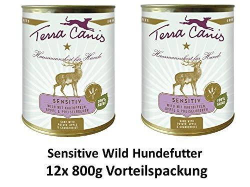 Terra Canis Sensitive Wild | 12x 800g Hundenassfutter