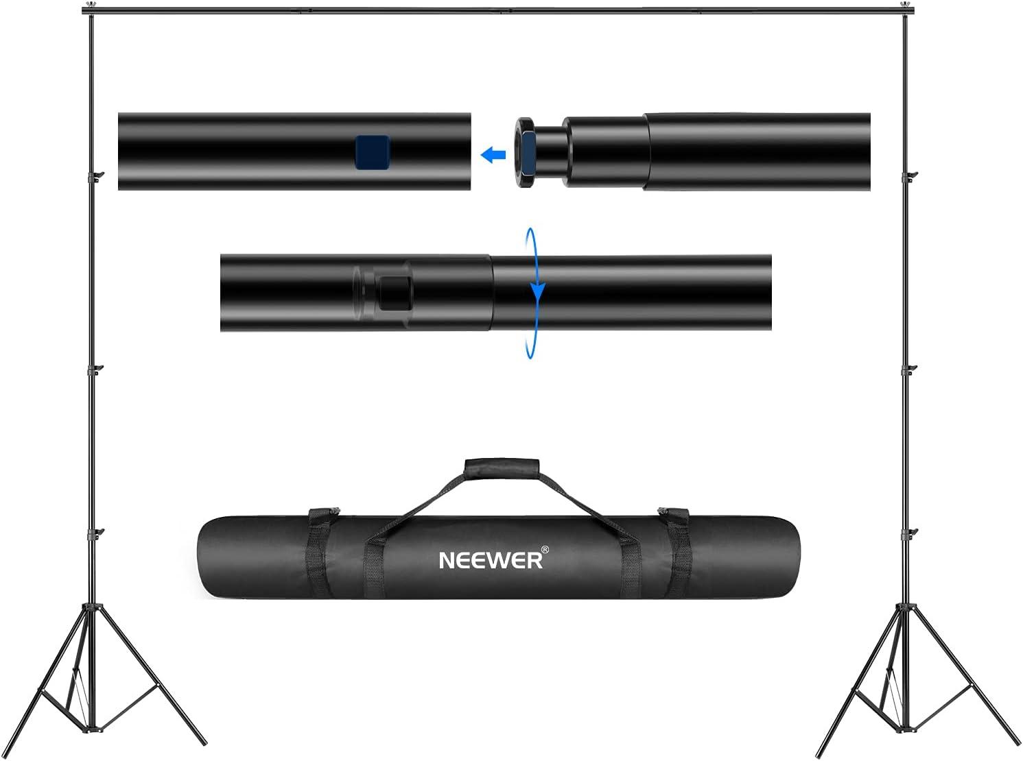 Neewer® Soporte de Fondo Sistema de Soporte 2.6M x 3m con Funda de Transporte para Fondos de muselinas, Papel y Lienzo
