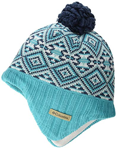 Columbia Unisex Kinder Youth Winter Worn II'' Peruanische Mütze, Blau (Geyser Fairisle), Einheitsgröße