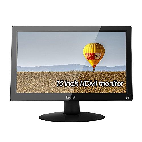 EYOYO 15.6' IPS LCD HD Monitor Display 1920x1080 Video Colori Display Audio 178°Angolo di Visione con HDMI/AV/VGA/BNC/USB input Per PC Cam VCD DVD