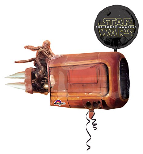 Anagram 3162201 - Folieballon Super Shape, Disney Star Wars Episode VII, Reys Speeder, 88 x 73 cm