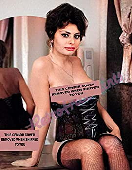 young Sophia Loren Topless IN COLOR RARE 8X10 Image