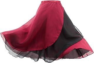 Daydance 女性 バレエロングスカート レースシフォンスカート体操 レッスン ダンス着 発表着 普段着 身長 150-180cm