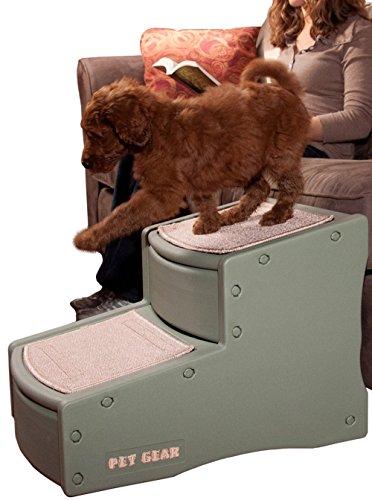 Pet Gear Easy Step II Steighilfe/Treppe für Hunde, klein, Salbeigrün