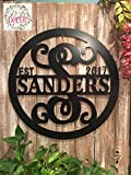Personalized Last Name Sign ACM Metal Monogram Letter Wall Decor...