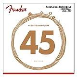 Juego de cuerdas Fender para acústica Bass-8060 (045/100) de larga escala - Bronce fosforado