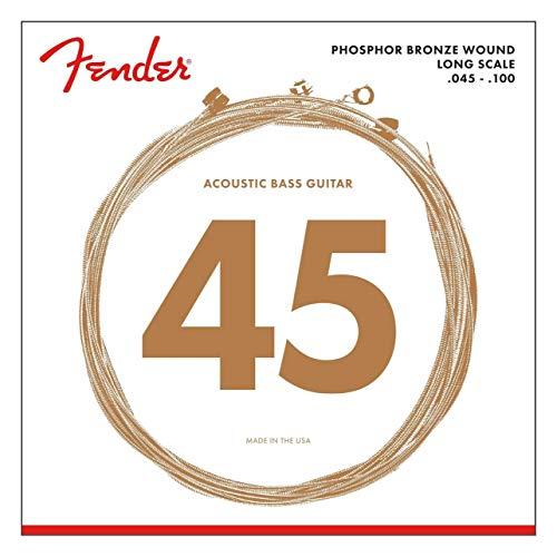 Juego de cuerdas Fender para acústica Bass-8060 (045 100) de larga escala - Bronce fosforado