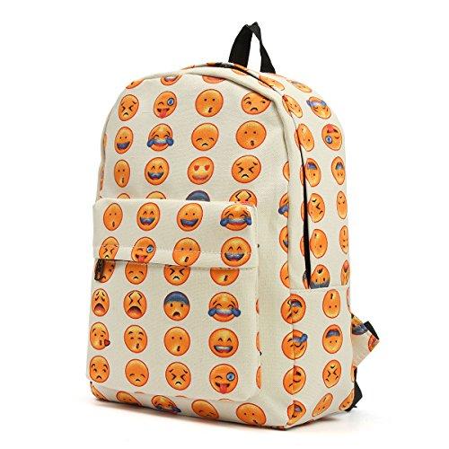 OUTERDO Funny Smiley Zaino Unisex Zaino Viaggio Borsa Backpack/Scuola Zaino/Bambini Zaino/School Bag-Innovativo Modello di Progettazione - Perfetto per Sport, PIC-nic, Eventi All'aperto