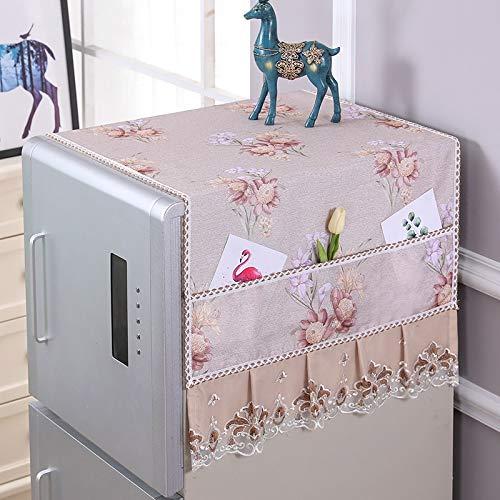 SHENAISHIREN Cubierta del polvo de la nevera, cubiertas superiores de lavandería, cubiertas superiores de secadora, cocina Decormulti - Lavadora para fines de lino de algodón cubierta superior con bol
