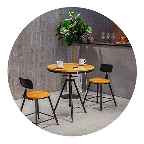 TXOZ-Q 3 Piezas Silla de Bar, cafetería, Restaurante Barstools Comedor Juego de Mesa rústica Desayuno Bar de Cocina y de Restaurante