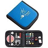 Tamaño de Costura Set Caja de Agujas Bolsa de Almacenamiento portátil Mini Impermeable del Recorrido del hogar: 12 * 12.5cm LiMinHua (Color : Blue)