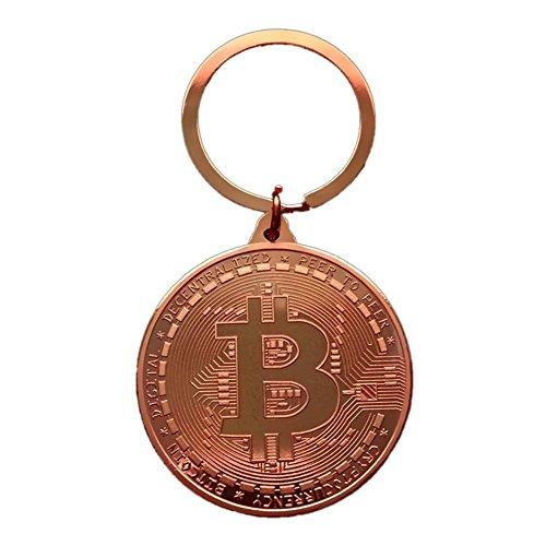Schlüsselbund, Vergoldet Special Bitcoin Modellierung Münze Ornament Schlüsselbund Bitcoin Kunstsammlung Auto Schlüsselbund Dekoration Key Tag , Szseven