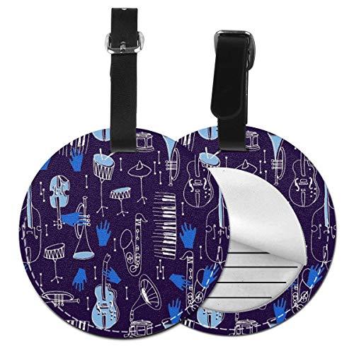 ネームタグ バッグ用ネームタグ ジャズファブリックカインドオブブルー, ネームプレート スーツケース 紛失防止 旅行 出張 対応用 荷物タグ