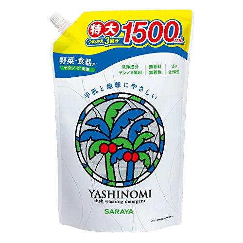 サラヤヤシノミ洗剤野菜・食器用つめかえ用1500mL