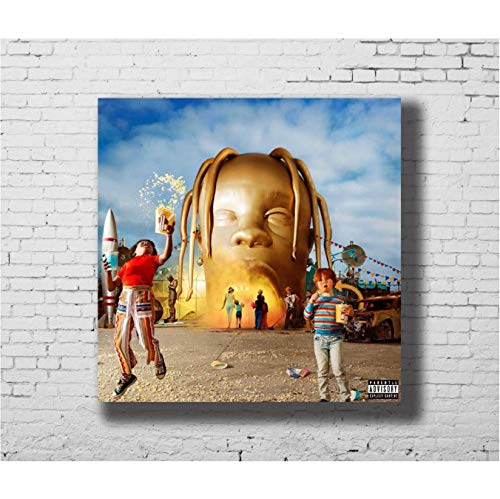 Zahuishile Art Print Poster Astroworld Travis Scott Rap Album Cover Home Decoration Hot Wall Canvas 50x50cm Without Frame