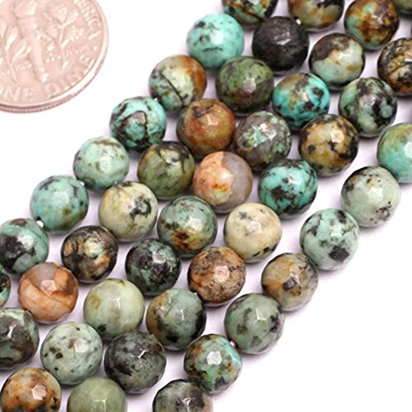 GEM-inside Natural Africa Turquoise Gemstone Loose Beads Faceted Round 4mm Crystal Energy Stone Power For Jewelry Making arqgjovr785325