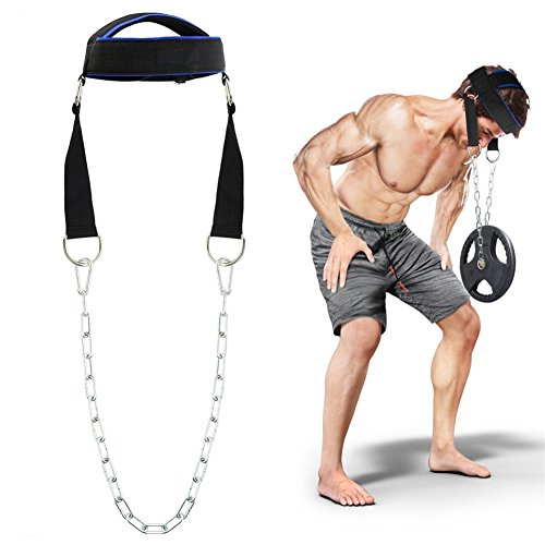 Hochwertige Einstellbare Kopf Training Gürtel Kopf Hals Gewichtheben Grip Handgelenk Wraps Straps Kraft Übung Fitness Bodybuilding Koptrainer Nackentrainer Hals Training Kopf Harness