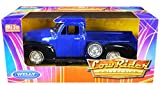 1953 Chevy 3100 Pickup Truck Blue and Black Low Rider Collection 1/24 Diecast Model Car by Welly 22087