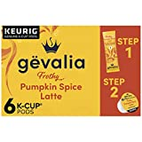 Gevalia Frothy 2-Step Pumpkin Spice Latte Espresso K-Cup Coffee Pods & Froth Packets Kit (6 ct Box)