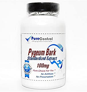 Pygeum Bark Standardized Extract 100mg 12% Phytosterols // 100 Capsules // Pure // by PureControl Supplements