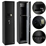 FCH Electronic 5 Rifle Gun Safe Large Firearms Shotgun Storage Cabinet with Small Lock Box