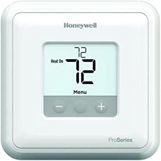 Honeywell TH1010D2000 Non-programmable 24VAC Thermostat T1 Pro Non-Programmable Thermostat for 24 Vac Systems, Single Stage for Heat only or Cool only Systems Must Set up Heat or Cool via The menu