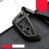 JASAFAJFH Schutzhülle für BMW X1, X5, X3, X6, 1257 F15, F16, E53, E70, E39, F10, F30, G30, Schutzhülle, schöne Zinklegierung + Silikagel, C-schwarz weiß