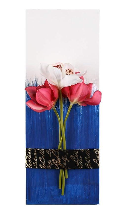 ベスビオ山囲いモジュール現代のミニマリストスタイル造花壁の装飾壁掛け、15.67 x 5.9インチ [D]