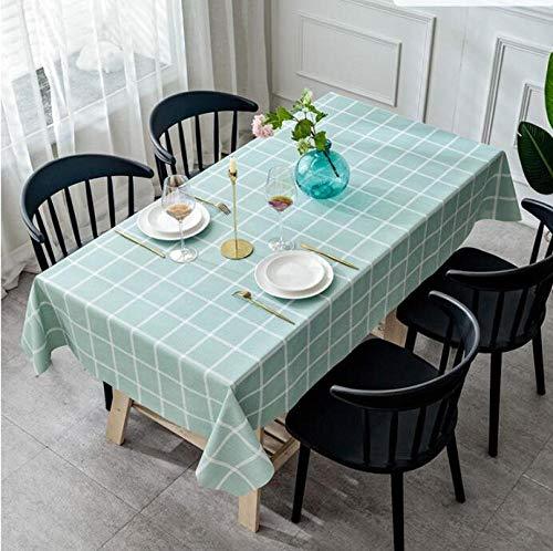 Traann Plastic tafelkleed schoonmaken, waterdicht tafelkleed stof Home Decoration voor feestjes Bruiloft Anti-verbranding No-Clean PVC groen 140*180