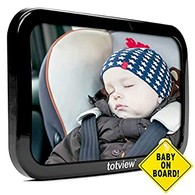 Totview Baby Mirror   10.2 inch Mirror for Rear Facing Car Seats   Safety Tested
