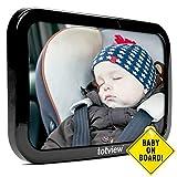 Espejo para automóvil - Para asientos de automóvil con vista trasera - Grande,...