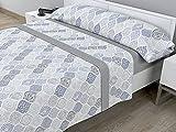 Juego de sábanas térmicas de Pirineo - 3 Piezas - 110 Gr/m2 - Mod. ISIR (Gris, Cama de 135 cm (135_x_190/200 cm))