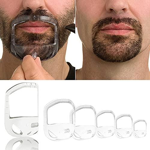 Kit de barbe 5 pcs Mens d'outil Modèle Guide design Moustache Beard Beard Beate Bougeau Beard Bougeau Style Shaper Style Shaper Schawing Brush Beauty Fournitures de beauté