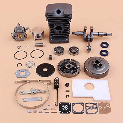 HaoYueDa Kit de carburador de Tambor de Embrague de cigüeñal de Cilindro de 38 mm Compatible con Piezas de Motor de Motor de Motosierra STIHL MS180 MS170 018 017