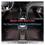 Alfombrillas de coche Estilleo de coches alfombra del piso del coche compatible con TOYOTA CAMRY XV70 2018-Present Hybrid LHD Auto Pad Pude PU CUERTA DE CUERTA DE CUERTA DE CUERTA ACCESORIO INTERNO Cu
