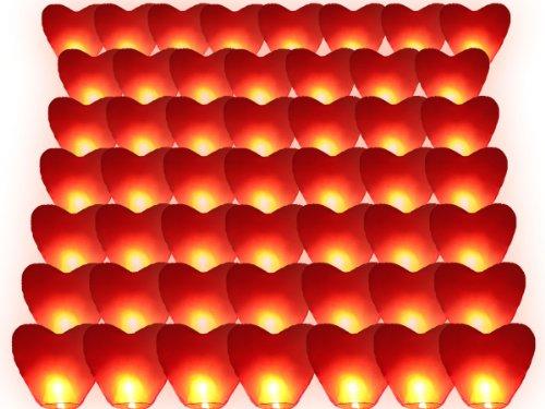 Alsino Lvc50 Lanternes en forme de cœur Rouge 90 x 50 cm
