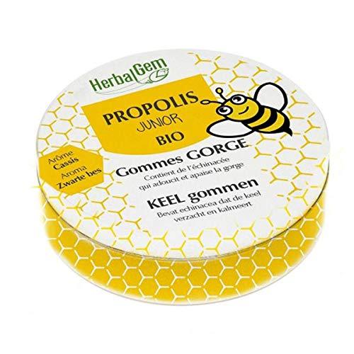 HERBALGEM - Gommes Gorge Propolis Junior Bio - 45 g