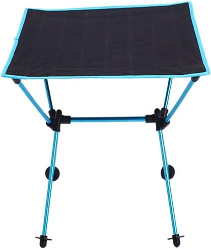 Zhaolan-Outdoors Supplies Fournitures de Camping portatives en Plein air Table de Pique-Nique Pliante en Aluminium Oxford Multi-Usage imperméable Bleu Clair