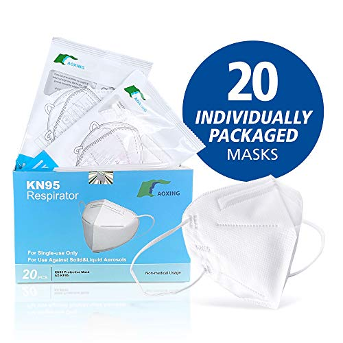 KN95 Advanced Filtration Respirator Face Masks (20 Pack) |  95% Filtration | Type FFP2 - CE Certified to EN149