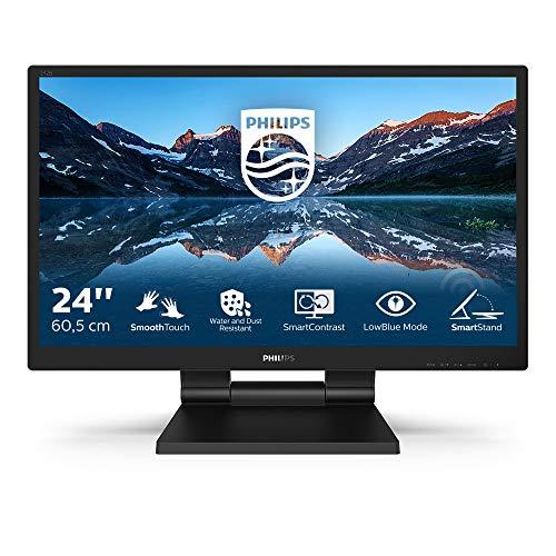 Philips Monitors 242B9T- Monitor Táctil para PC de 24' FHD (Portátil IPS, resolución 1920x1080, LowBlue Mode, VESA, Altavoces, HDMI, Displayport, USB)