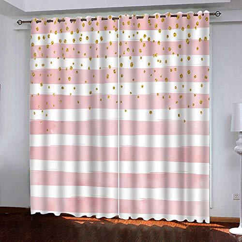 BBQTABZ Bedsure Cortinas Opacas 3D Flequillo Cortina Aislante para Dormitorio 3D Cortinas Opaca Cocina Salon Dormitorio Moderno Ventana Decorativa 182cmx214cm(91x214) x2